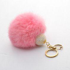 Extra Big Size Soft Genuine Rabbit Fur Ball keychain Key Ring Handbag Pendant