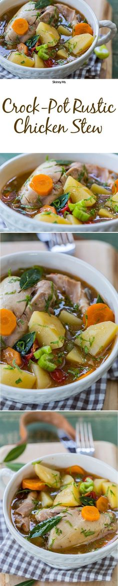 So warm, hearty, and easy breezy. This is Crockpot Rustic Chicken Soup.