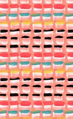 Painterly stripes by Catarina Guerreiro.