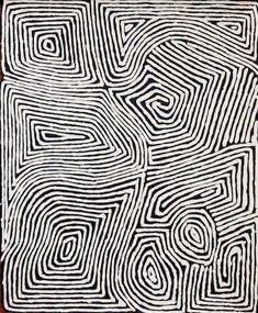 Ronnie Tjampitjinpa, Untitled, 2014, 46 x 38 cm., Papunya Tula Artists; Utopia Art. Sydney.