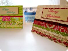 You don't need to go to the store for beautiful Christmas card designs when you can make your own using this tutorial from @Etcetorize. Create an eye catching layered effect to make handmade Christmas cards with a few simple steps. The scalloped paper stands out much more than a simple flat card.