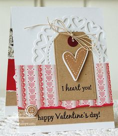 Patterned Paper - Papercrafts by Inge: January MFTeasers, LJD Homespun Hearts, Hearts and Stitches
