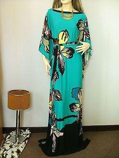New Caftan Kaftan Boho Women's Art Floral Beach Party Maxi Long Dress Plus Size