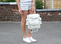 Lurch Hound Loves x Lolu Rhoda Striped Two Piece, Street Style Blog, Summer Stripes, Everyday Outfits, Affordable Fashion, Leather Backpack, What To Wear, Charlotte, Satchel