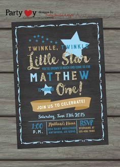Twinkle Twinkle Little Star Birthday by PartyInvitesAndMore