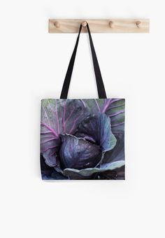 Purple Cabbage Famers Market Bag Purple Bag by GriffingsCloset  -- Join DigiColorCreations.com today and make custom-designed items for your Etsy shop!