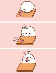 A text can make you happy :) Molang.