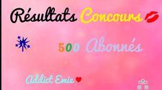 🎁 Résultats du concours 500 abonnés ♥ Bye, les chasseuses de concours ...