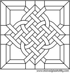 Stained glass Celtic design pattern