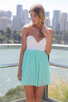 eal Strapless Mini Chiffon Dress with White Lace Bodice, Dress, chiffon dress strapless, Chic Designer: Xenia $47.00($ 68.00)