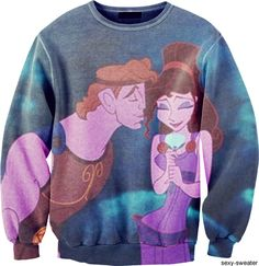 Meg and Hercules, one of my top favorite Disney couples! I'm assuming this is at hot topic. Winter Outfits, Casual Outfits, Cute Outfits, Lazy Outfits, Disney Sweatshirts, Hoodies, Disney Sweaters, Disney Shirts, Disney Outfits
