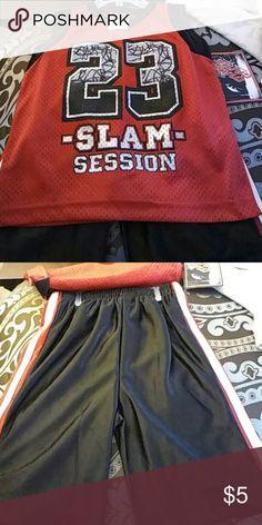 Boys short set Boys basketball shorts sets mad game Matching Sets