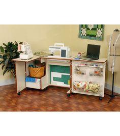 GOT IT! Kangaroo Kabinet Wallaby Sewing Cabinet-Teak