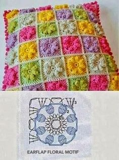 Crochet Pillow Patterns Part Archives - Beautiful Crochet Patterns and Knitting PatternsThe ultimate granny square diagrams collection – ArtofitAre you looking for any free pillow crochet patterns? Crochet Motifs, Granny Square Crochet Pattern, Crochet Blocks, Crochet Diagram, Crochet Chart, Crochet Squares, Crochet Stitches, Granny Squares, Crochet Granny