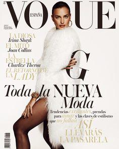 Nombres propios y superlativos como Joan Collins, Charlize Theron o Mario Testino acompañan con sus palabras las tendencias más excitantes del otoño, en un número de oro. Irina Shayk encumbra la nueva moda en la portada de Vogue septiembre.