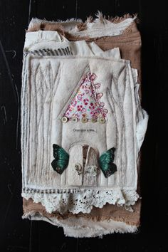 """Once upon a time"" fabric art journal by Nellie Wortman....love this!"