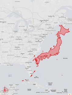 Japan, how big it is in reality?
