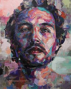 Portrait Illustration Contemporary Oil Painting Emotional Portraits by Joshua Miels Tattoo Painting, Abstract Portrait Painting, Oil Portrait, Portrait Paintings, Oil Paintings, Painting Art, Knife Painting, Painting People, Painting Flowers