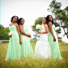 Sea green bridesmaids dresses Green Bridesmaid Dresses, Wedding Dresses, Wedding Ideas, Sea, Fashion, Bride Dresses, Moda, Bridal Gowns, Fashion Styles