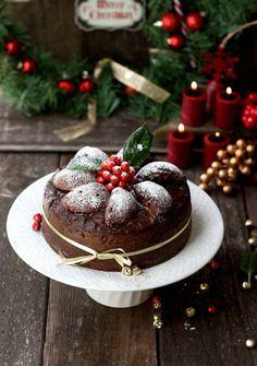 Imagen de christmas, cake, and chocolate Christmas Sweets, Christmas Kitchen, Noel Christmas, Christmas Goodies, Christmas Baking, Christmas Cakes, Christmas Fruitcake, Tartan Christmas, Cottage Christmas