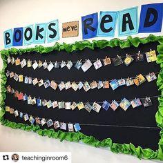 Beautiful way to #inspire #reading . Thank you, @teachinginroom6 ! #books #inspiration #classroomdecor #classroomsetup #middleschool