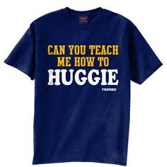 Teach Me How To Huggie Navy - T-Shirt