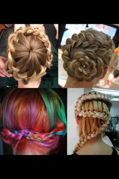 Cool hair styles! I LOVE the top right one the best!!