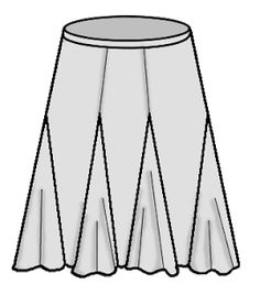 Gored skirt with godets.