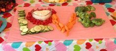 LOVE this veggie tray idea!
