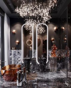 News and Trends from Best Interior Designers Arround the World Luxury Interior, Luxury Furniture, Modern Marble Bathroom, City View Apartment, Entryway Decor, Bedroom Decor, Cosy Home, Deco Addict, Home Decor Paintings