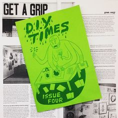 fanzines: From the archives: Issue 4 of the DIY Times - a British about DIY culture Post Punk, Doodle Drawings, Blog, Illustration Art, Doodles, Culture, British, Notebook Ideas, Times