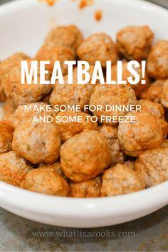Easy Homemade Meatballs — What Lisa Cooks