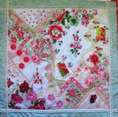 Two Crafty Mules: Crazy Quilting with Vintage Hankies