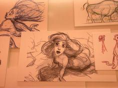 Glen Keane - Ariel concept art , Glen Keane sure has something special.