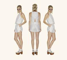 Lydia Tank in Lace & Rita Shorts