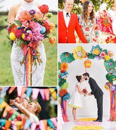2015 Wedding Trends | Colourful Celebrations | www.onefabday.com