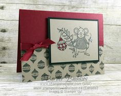 Stampin Up Merry Mice Stamp Set - Border Buddies FREE PDF Card Tutorial 2 www.stampstodiefor.com