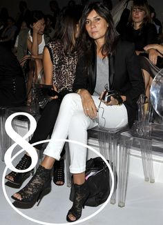 8. Sheer Booties Ankle boots look super chic with her signature cropped pants, the lace adds a glamourous touch