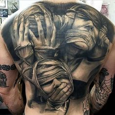 61 Best Stylish, Beautiful and Unique Tattoos for Men unique tattoos for men; unique tattoos for couples; unique tattoos for my son; unique tattoos for lost loved ones; unique tattoos for parents; unique tattoos for best friends Evil Tattoos, Creepy Tattoos, Badass Tattoos, Skull Tattoos, Sexy Tattoos, Body Art Tattoos, Sleeve Tattoos, Hand Tattoos, Unique Tattoos For Men