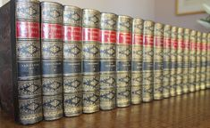 1869 The Works of William Makepeace Thackeray 22 Volumes Vanity Fair Complete Old Books, Antique Books, William Makepeace Thackeray, Rustic Crafts, Book Nooks, Bookbinding, Vintage Home Decor, Vanity Fair, Design Crafts