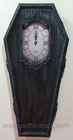 Black Victorian Coffin Clock by Winter's Asylum