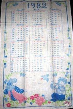 Vanhoja kalenteripyyhkeitä
