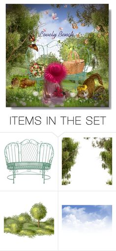 """""""Lovely Bench"""" by sarahguo ❤ liked on Polyvore featuring art"""