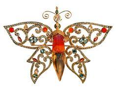 Butterfly brooch by Paula Crevoshay.