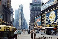 New York's Times square - Aug 1953