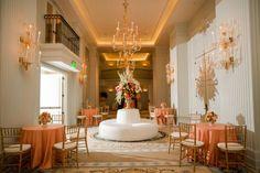 Citrus and Ivory Ballroom Wedding