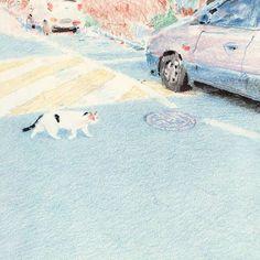 Kyutae Lee on Behance Pencil Illustration, Digital Illustration, Art Sketches, Art Drawings, Storyboard, Love Art, Art Inspo, Painting & Drawing, Illustrators