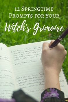 12 Springtime Prompts for Your Witch's Grimoire | The Witch of Lupine Hollow