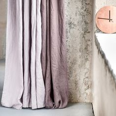 Caffe mocha. Washed linen curtains/ linen drapes in caffe macha