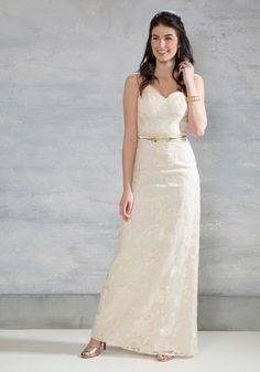 Beauty Beyond Words Maxi Dress in Ivory. You look gorgeous every day, but on this most special afternoon, slip into this ivory maxi dress by Chi Chi London to become your most glamorous yet! #white #modcloth